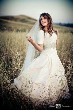 Modest Wedding Dresses 3 4 Sleeves