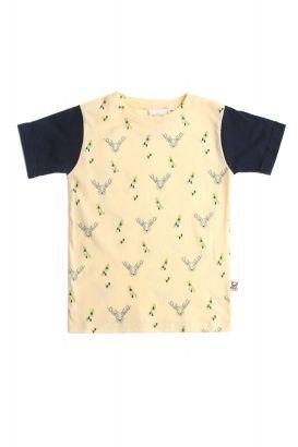 fb75fc624 Camiseta unisex amarilla con estampado de ciervos