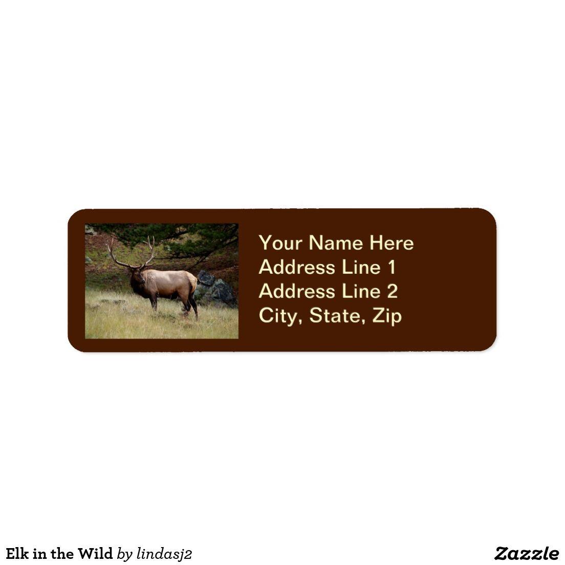 Elk in the Wild Label