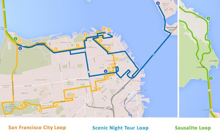 San Francisco Bus Tour Itineraries