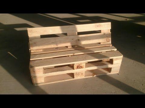 Banco de palets youtube sof s con palets sillas de - Como hacer un sofa de palets ...