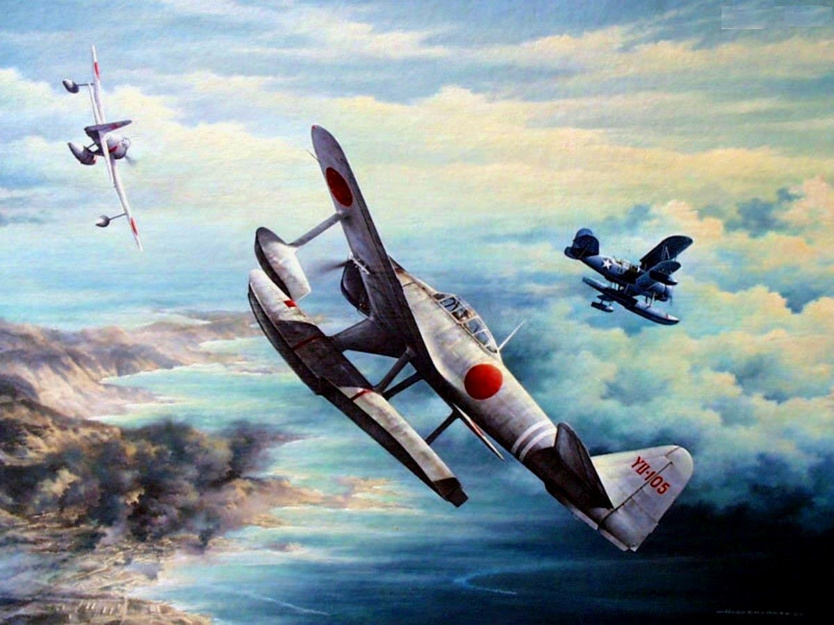 Action Over Kiska 7 August 1942, 1630 Hours, by Marii