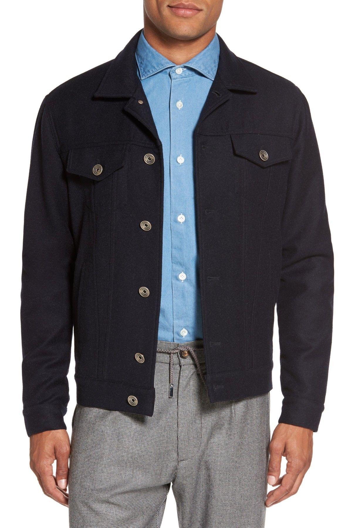 Wool cashmere flannel jacket  Eleventy Wool u Cashmere Flannel Trucker Jacket  Products