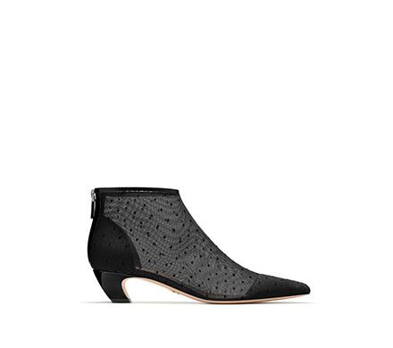 6ad3ea64822 Dior | Ankle boot in black dotted swiss tulle | Graceful Bold ...