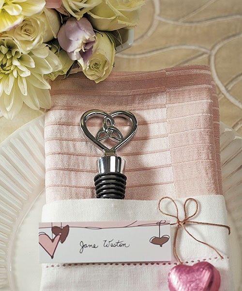 The Love Knot Bottle Stopper Favors Practical Wine Wedding Favors