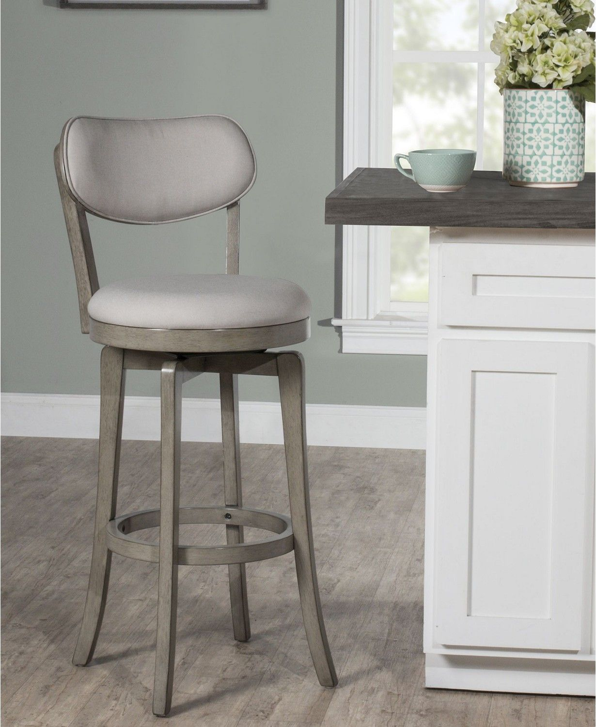 Hillsdale Sloan Swivel Counter Height Stool & Reviews   Furniture ...