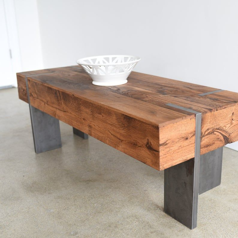 Rectangle Coffee Table Modern Reclaimed Wood Coffee Table Etsy Couchtisch Tisch Altholz