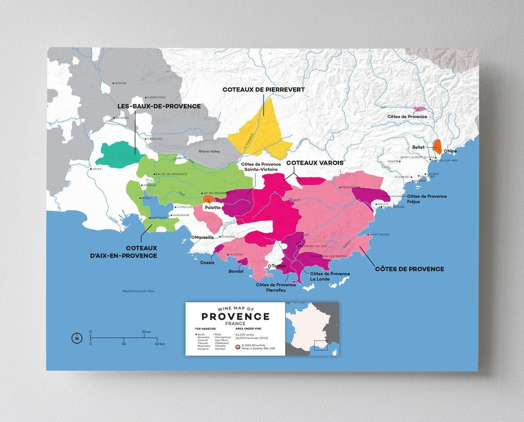 Map Of Provence France With Cities.France Provence Wine Map In 2019 Wine Country Map Malbec Wine