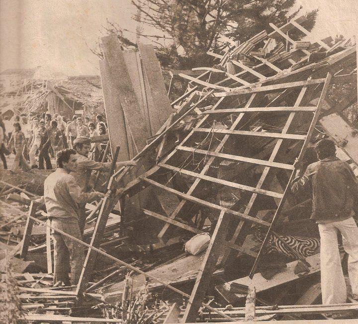 Explosão de dinamite provocava tragédia no Cabral, 1976.
