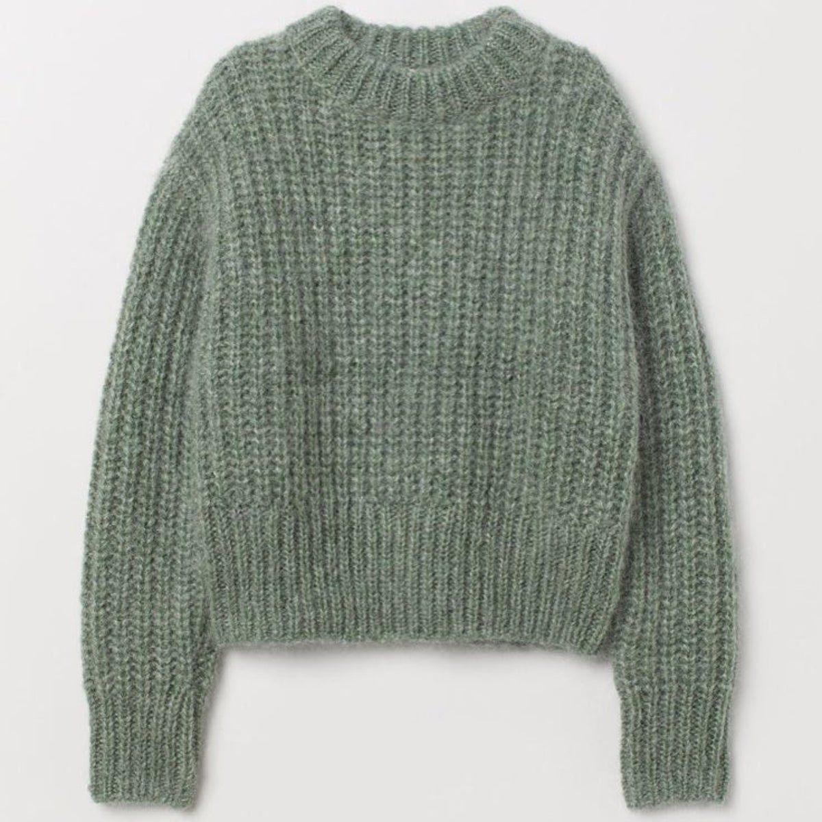 H&M Green Mohair Sweater. on Mercari