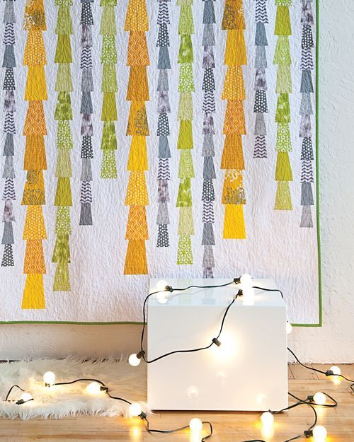 Modern Patchwork: Glam Garlands  Can you imagine how cool this would be as an Xmas quilt?