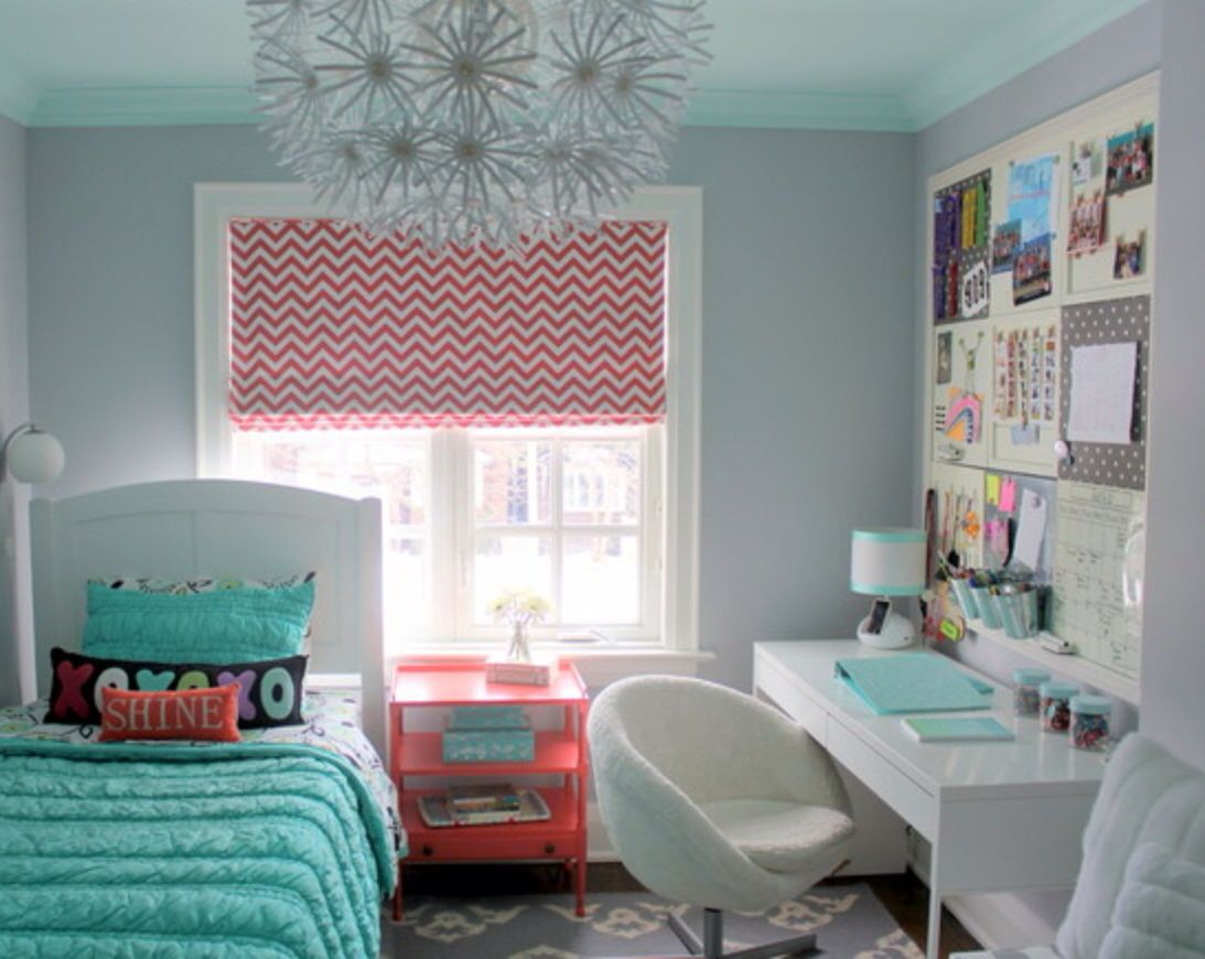 Bedroom colors blue and green - Small Teen Bedroom
