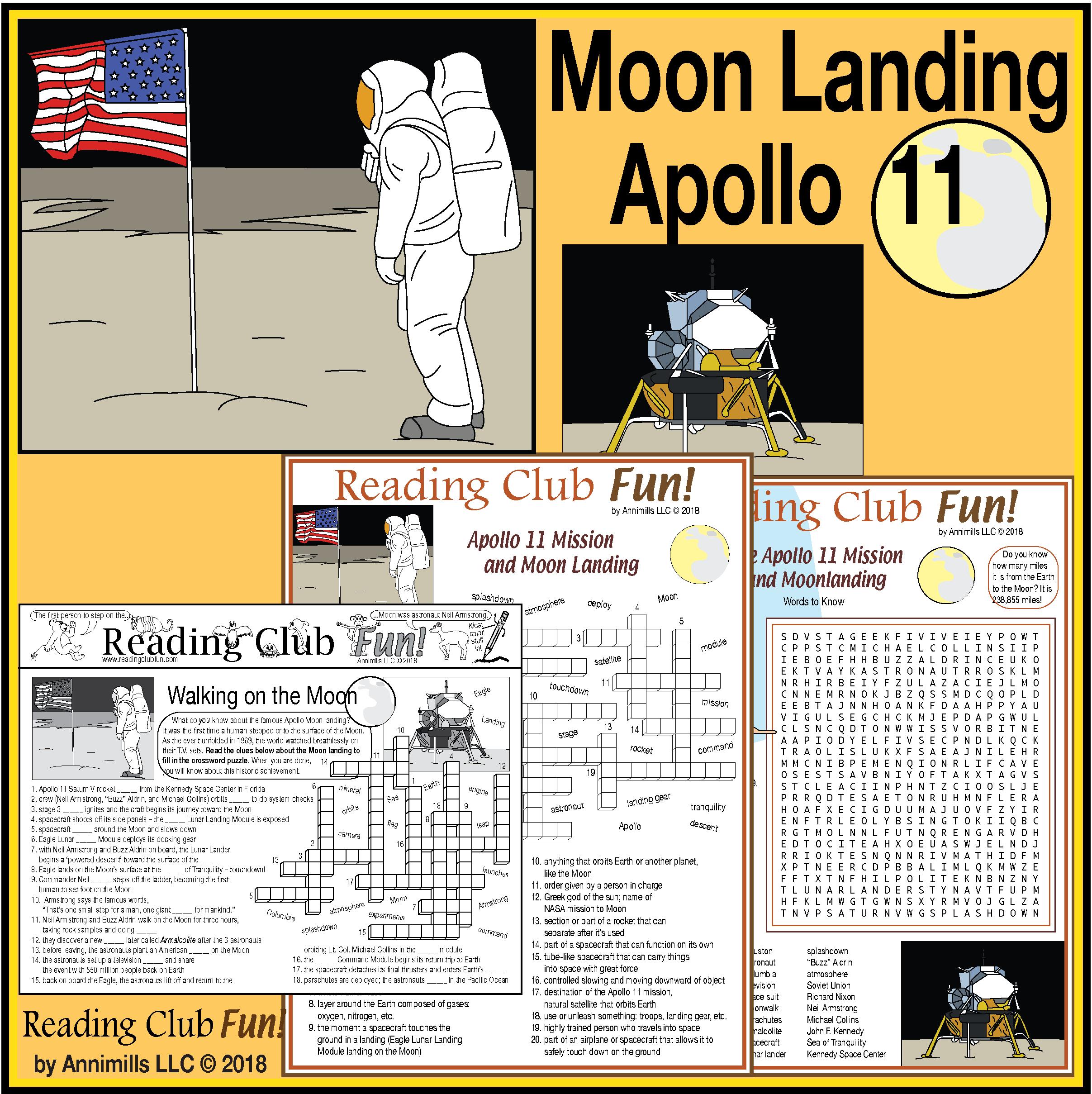 Apollo 11 Moon Landing Puzzles And Photos Set