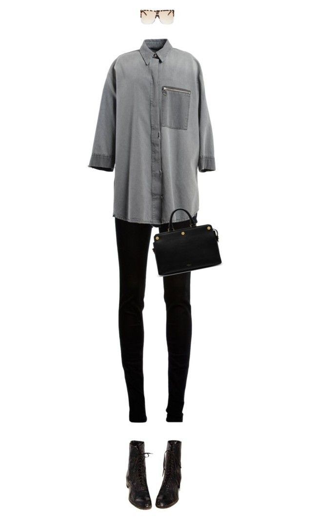 """""""Untitled #2822"""" by mitchelcrandell on Polyvore featuring dVb Victoria Beckham, MM6 Maison Margiela, Mulberry and Loewe"""