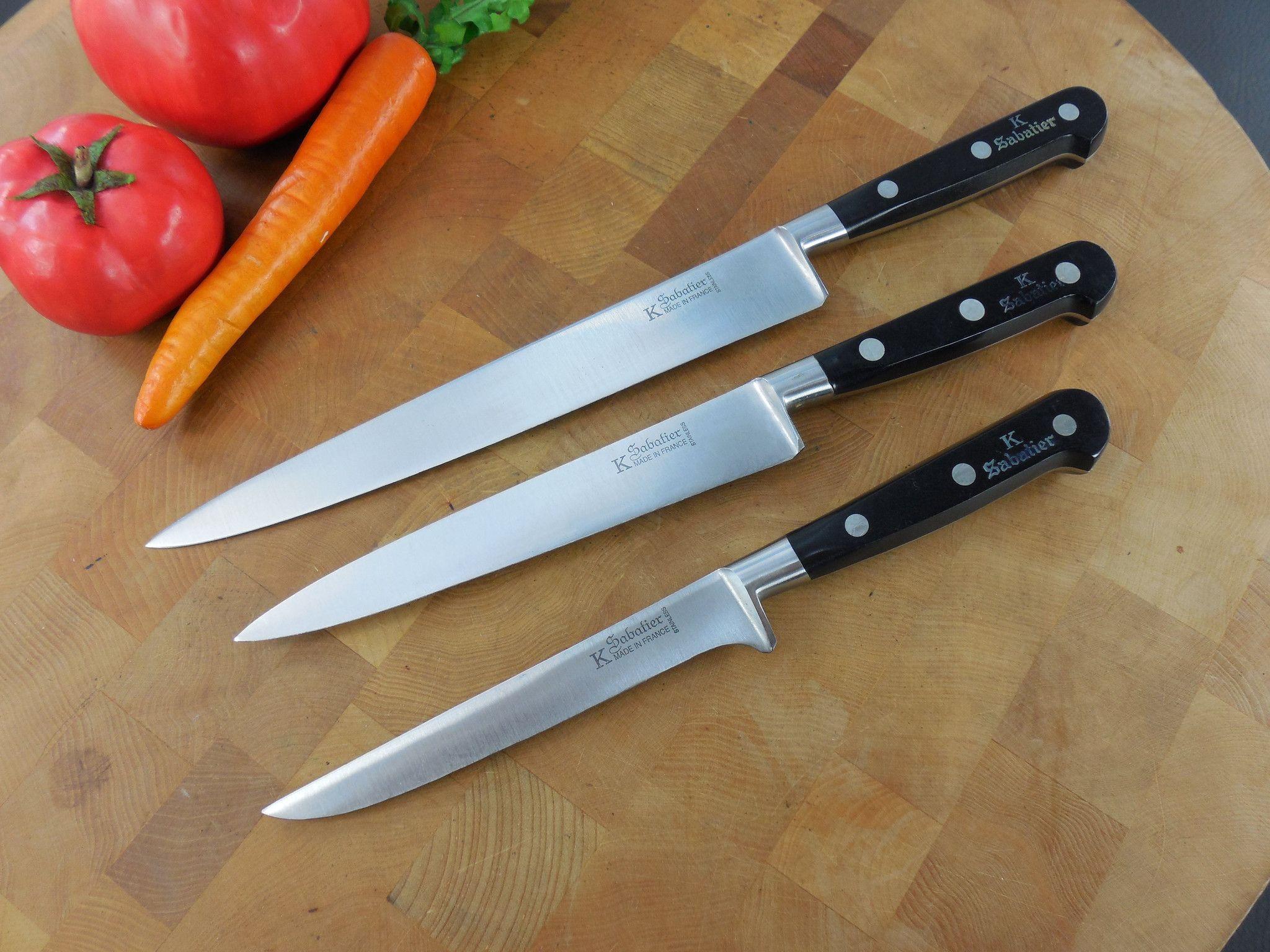 sabatier k france 3 set slicing utility kitchen cooking knives