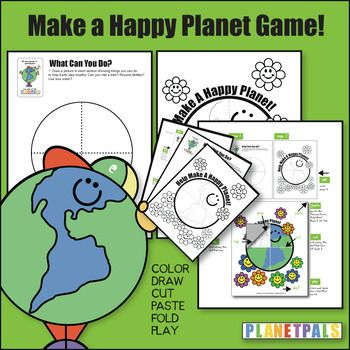 """Earthday Activity Stem Lesson Craft """"Make A Happy Planet"""