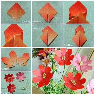 How to Make Pretty Paper Craft Origami Daisy Flower | Origami