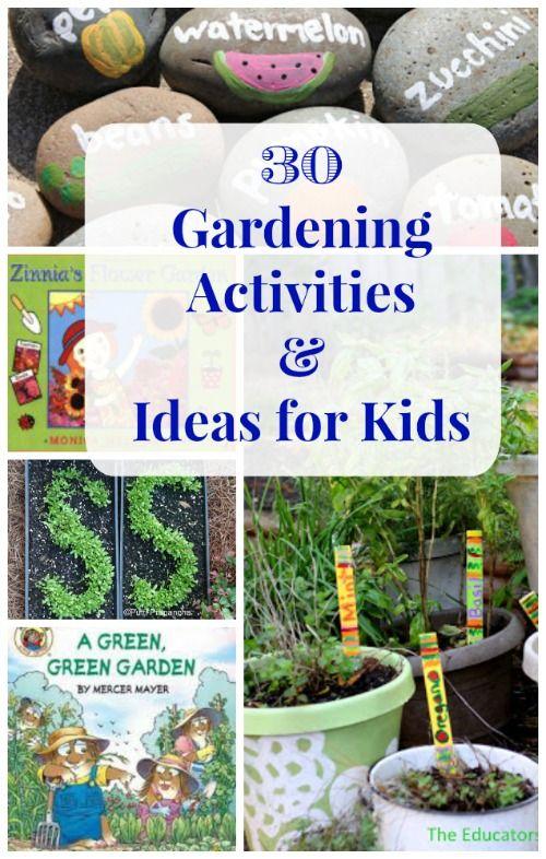 30 Gardening Ideas for Kids Kid garden, Garden guide and Activities