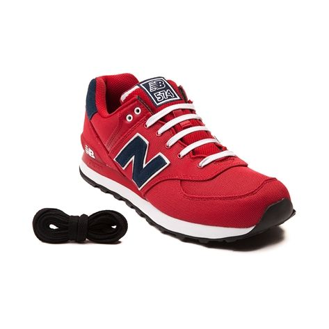 Shop for Mens New Balance 574 Athletic Shoe in Red Navy at Journeys Shoes.  Shop today for the hottest brands in mens shoes and womens shoes at  Journeys.com.