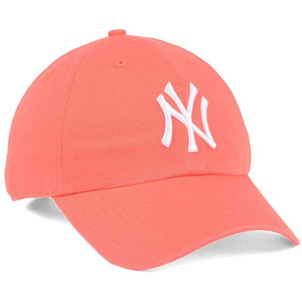 dd7f0588c0e New York Yankees  47 MLB Grapefruit  47 CLEAN UP Cap ❤ liked on Polyvore  featuring accessories