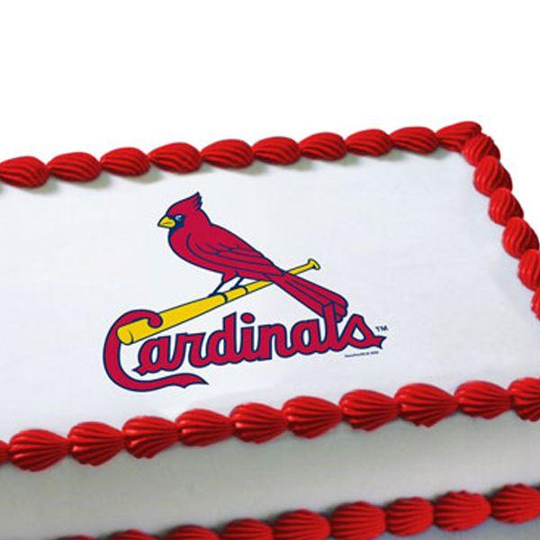 Mlb St Louis Cardinals Edible Image Cake Decoration Free Shipping