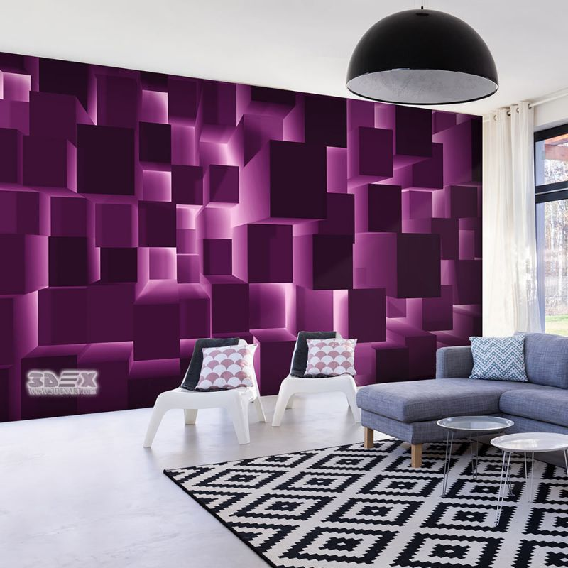 Best 3D Wallpaper Patterns For Optical Illusion In Living Rooms 30 Sty… Living Room Wallpaper 640 x 480