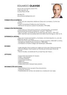 Curriculum Vitae España Modelo De Curriculum Vitae Modelos De Curriculum Vitae Curriculum Vitae Ejemplos De Curriculum Vitae