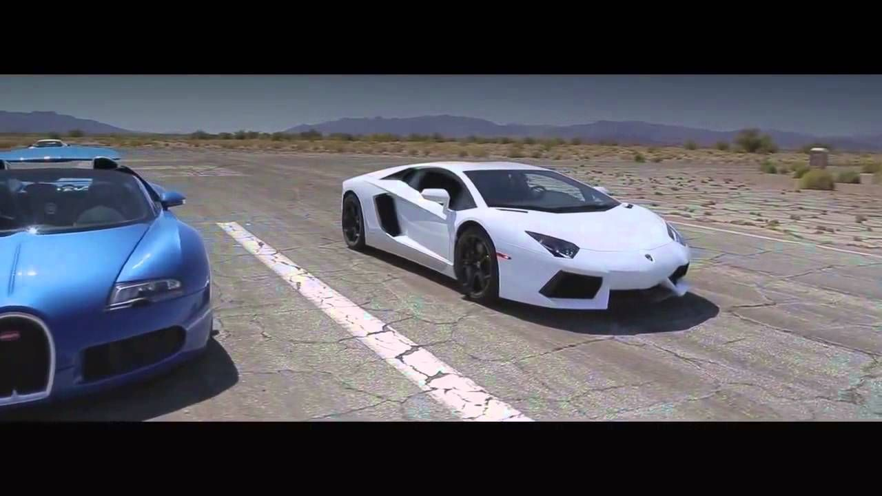 Bugatti Veyron Vs Lamborghini Aventador Race Car N Crazy Bugatti