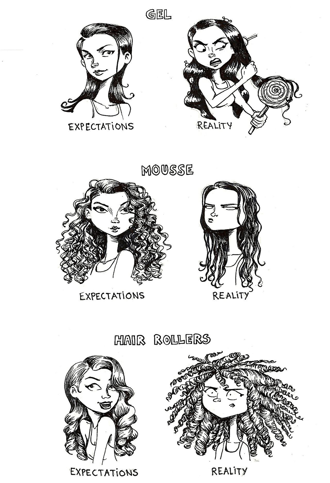 These Hair Expectations Vs Reality Illustrations Speak