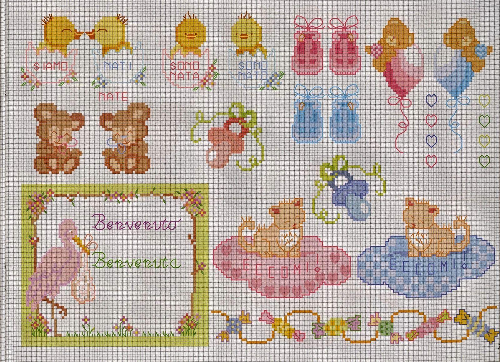 punto croce schemi gratis e tutorial schemi punto croce per bambini e neonati ricamo beb