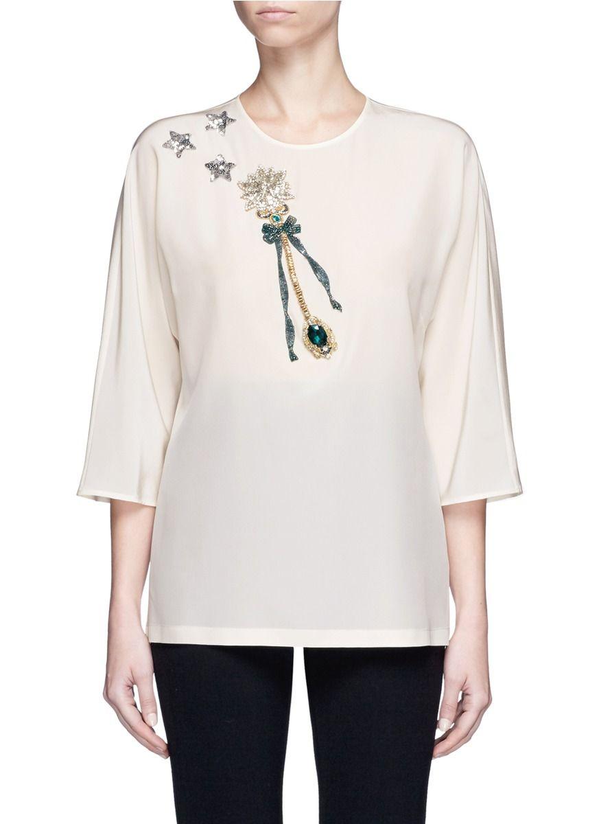 DOLCE   GABBANA Magic Wand Embellished Silk Top.  dolcegabbana  cloth  top 748c2c70fc4