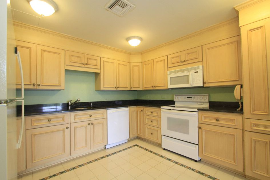 Kitchen, Modern White Kitchen Appliances With Natural ... on Black Granite Countertops With Maple Cabinets  id=77228