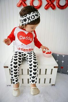 handmade baby girl daddy is my valentine t shirt this little girl valentines day outfit says it all about daddys little girl