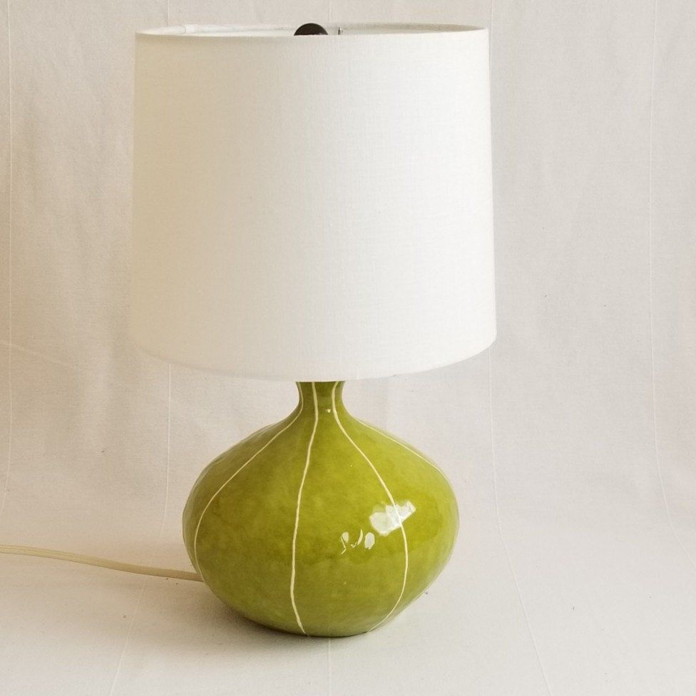 Table Lamp Modern Etsy Bedside Lamp Mid Century Inspired Retro