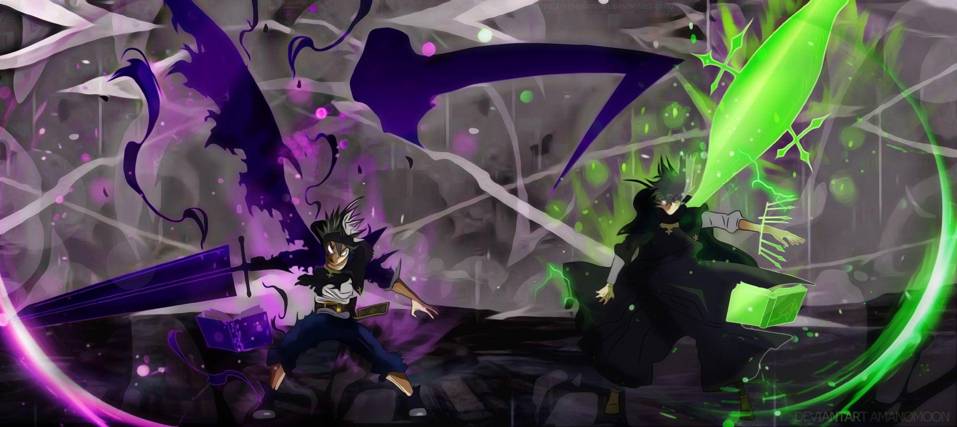Anime Black Clover Asta Black Clover Book Magician Sword Yuno Black Clover 1080p Wallpaper Hdwallpaper De In 2020 Black Clover Anime Anime Wallpaper Clover