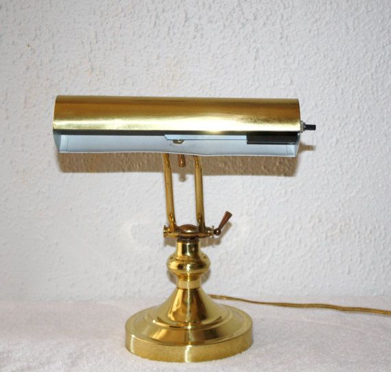 Vintage Solid Brass Advent Desk, Piano Lamp, Very Nice Mid ...