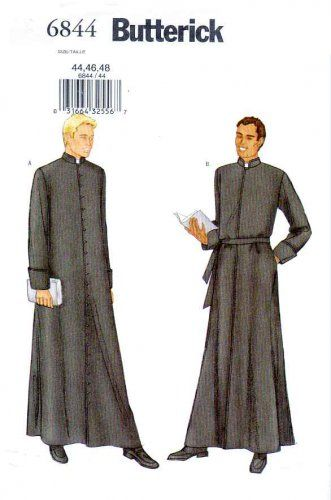 Butterick Sewing Pattern 6844 Mens Chest Size 44-46-48\