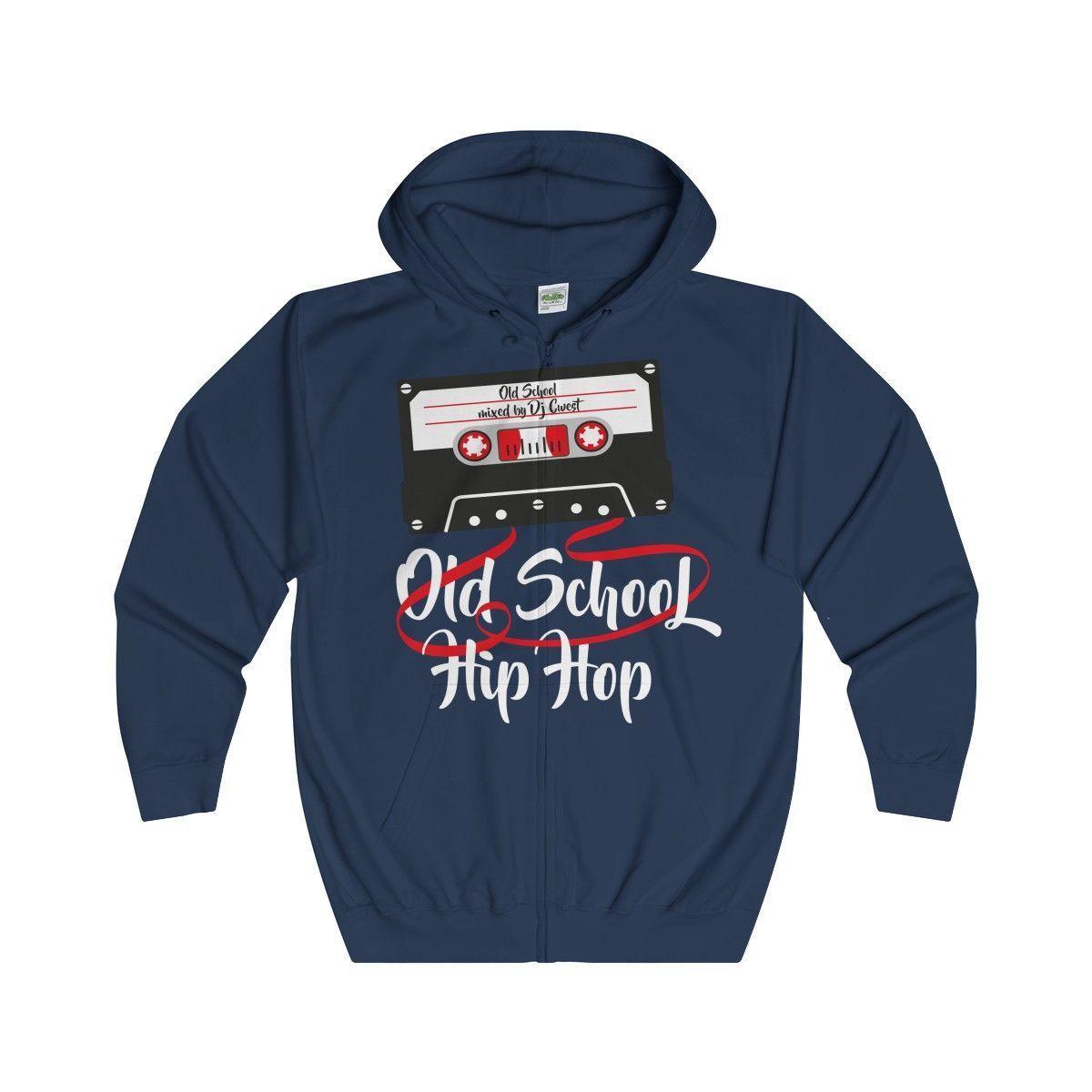 Old-School Hip Hop- Full Zip Hoodie