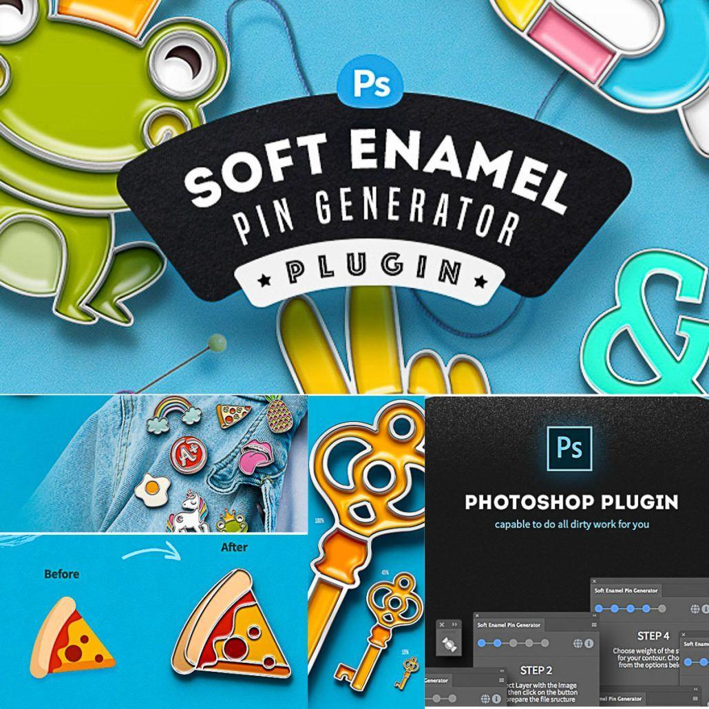 Soft Enamel Pin Generator plugins, Logo
