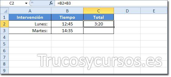 Sumar O Restar Tiempo Horas Minutos Y Segundos En Excel Programador Informatico Aprendizaje Sumo