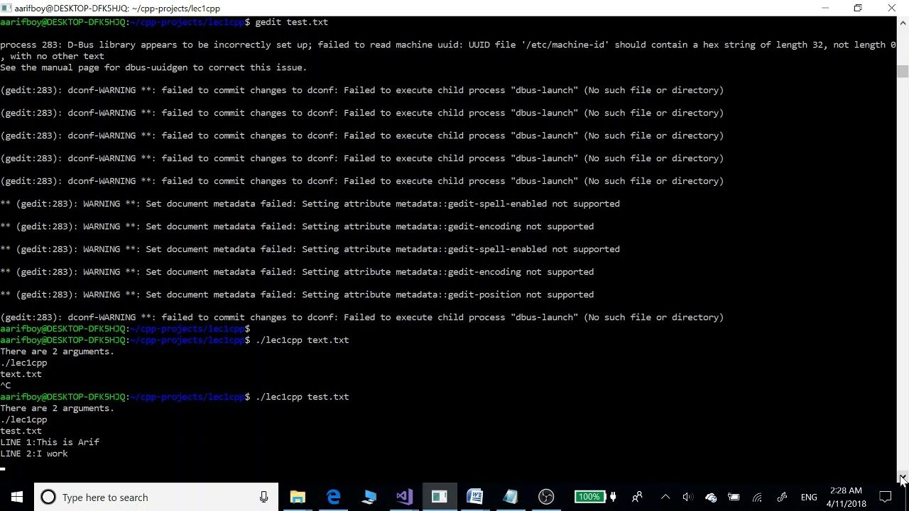 File Handling In C And C With Command Line Arguments On Linux 18 Reading Writing Reading Argument