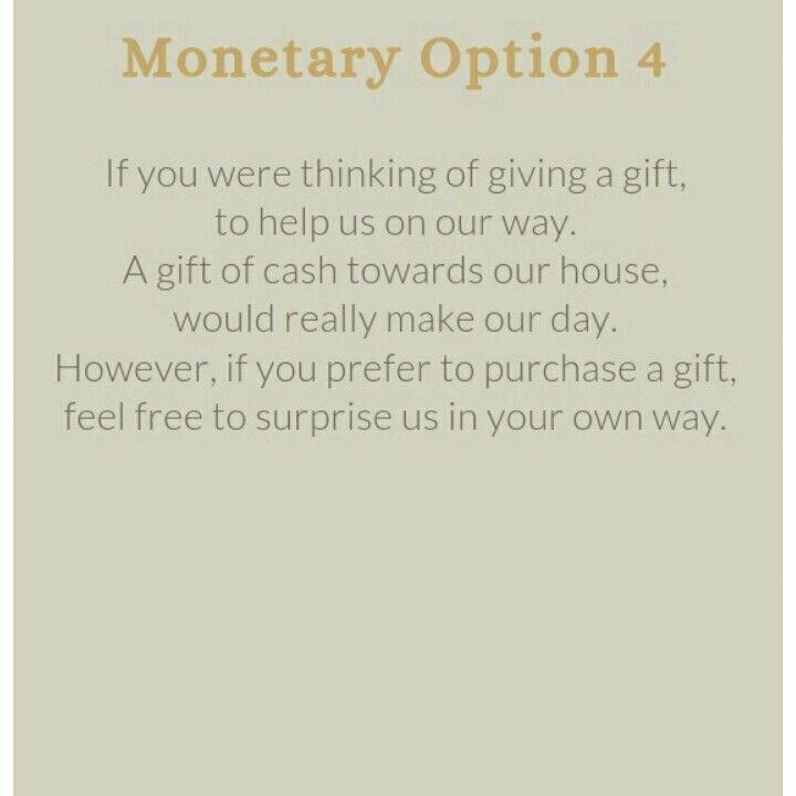 Monetary Gift Wedding Wording: Wedding Invitation Wording For A Monetary Gift