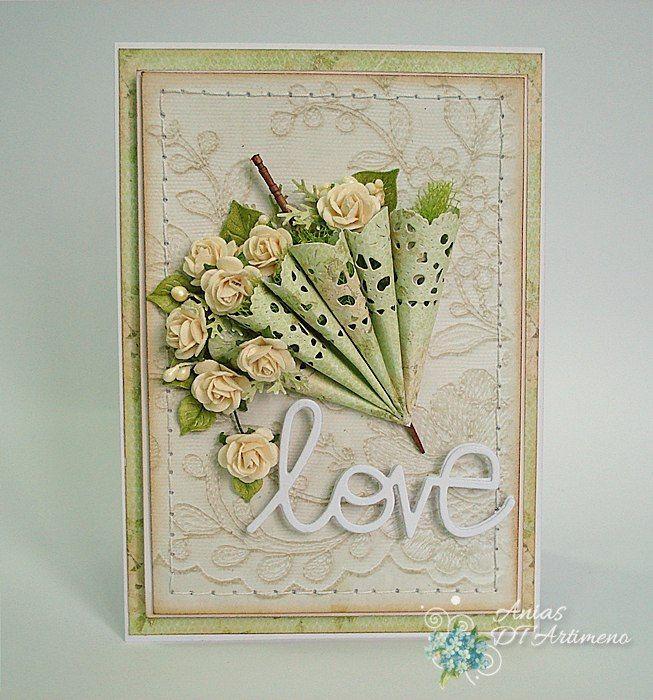 Картинки, открытка зонтик с цветами