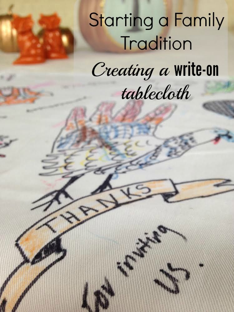 Doing A Runner Instead Starting A Family Tradition Creating A Write On Tablecloth