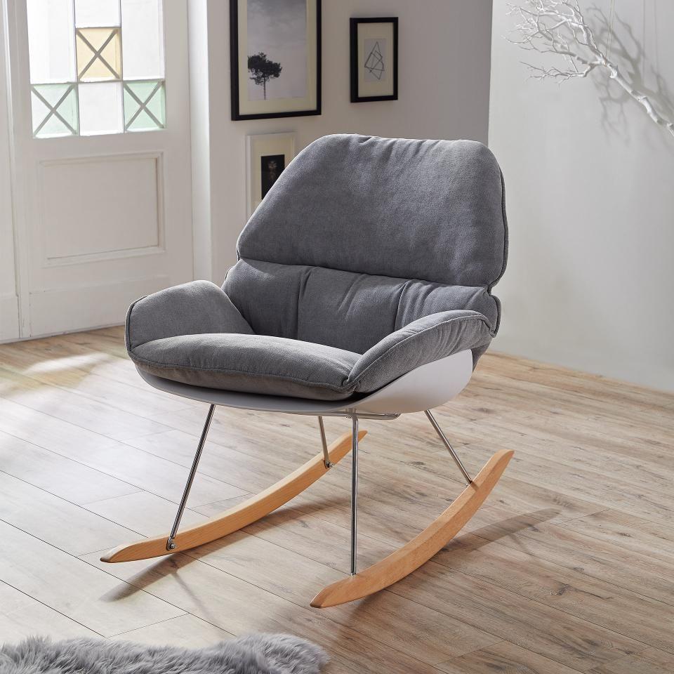 Schaukelstuhl Evetofte Grau Buche Stuhl Design