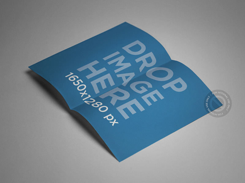 New Mockup Featuring A Panel Brochure Lying Open Over A Smooth - 2 panel brochure template
