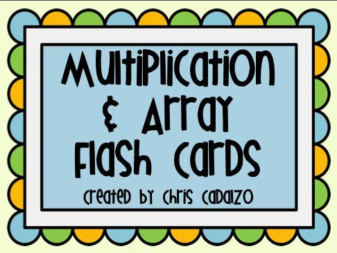 Printable Multiplication Flash Cards- Arrays   Math fact practice ...