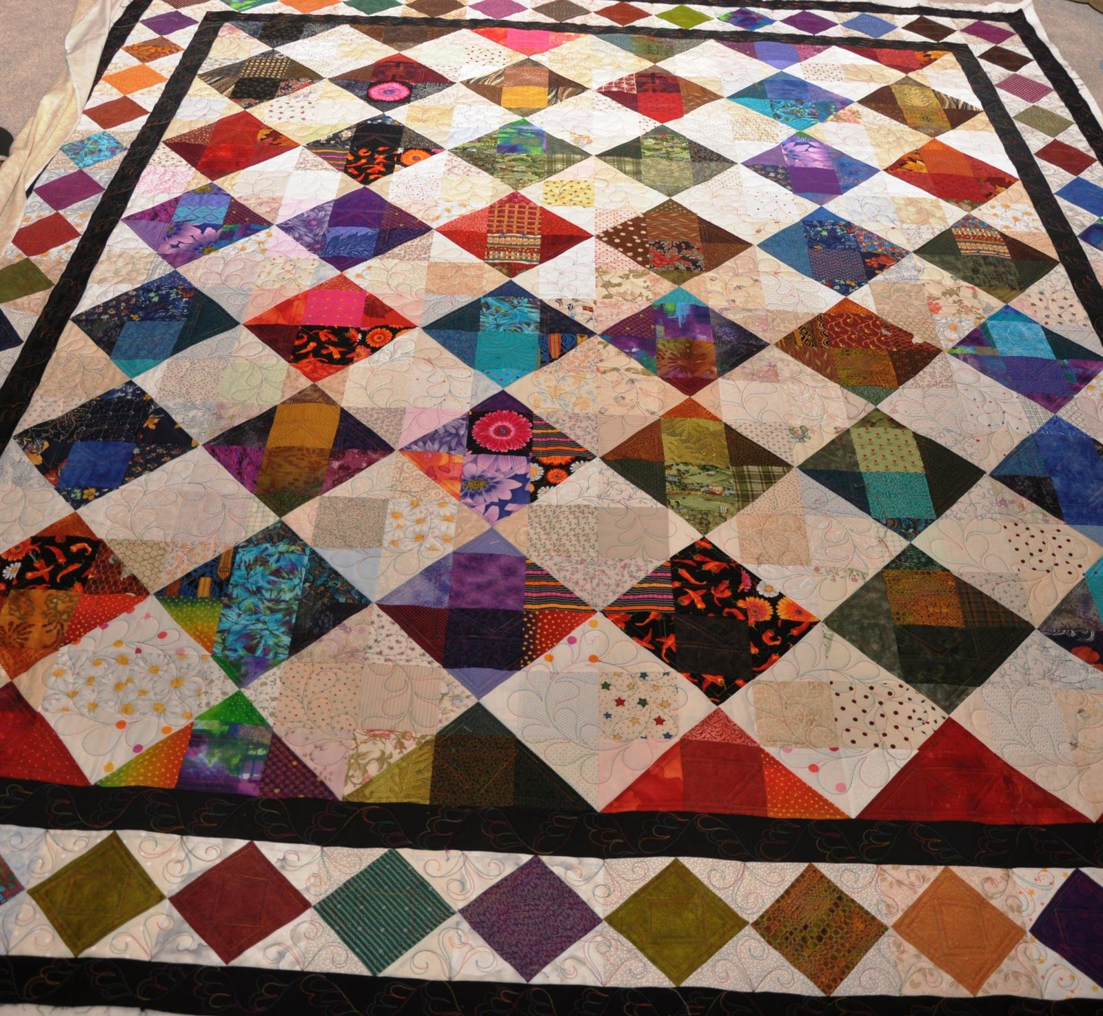 Jewel Tone Diamond Quilt Quilts Because My Sister Made