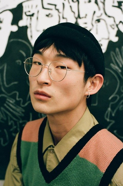 Artist and model Sang Woo Kim opens show about identity #face