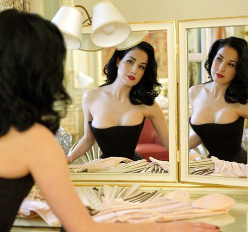 Some things cannot be improved upon.  Dita Von Teese certainly qualifies.